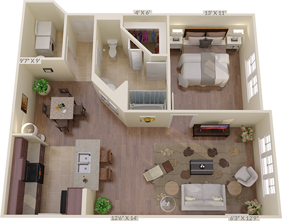 The Cloverleaf Floorplan