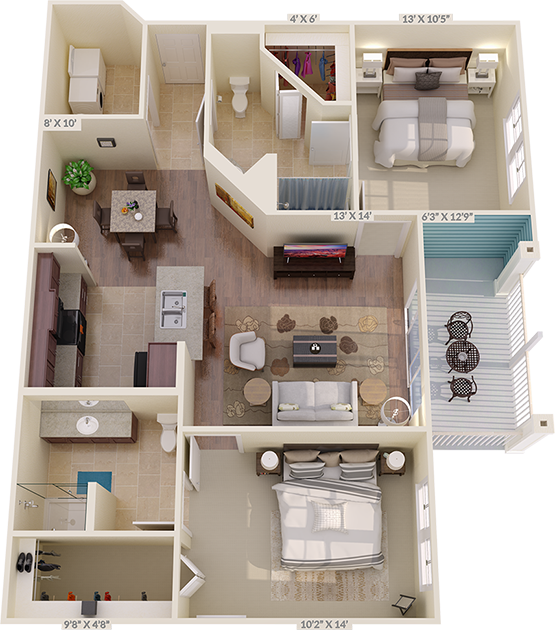 The Warwick Floorplan