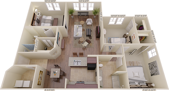 The Kenilworth Floorplan