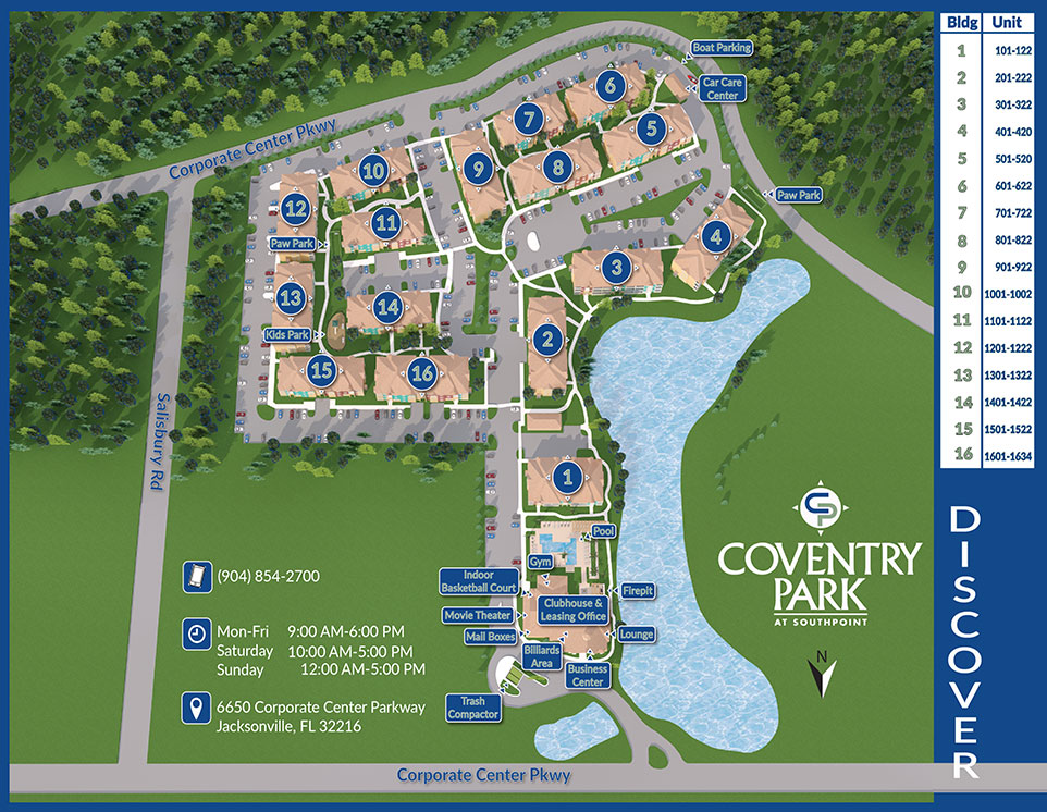 Coventry Park Map